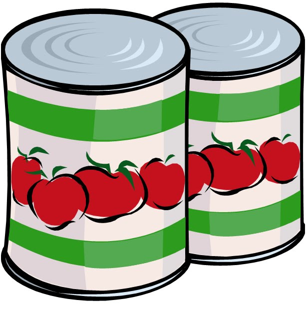 613x631 Canned Food Clipart