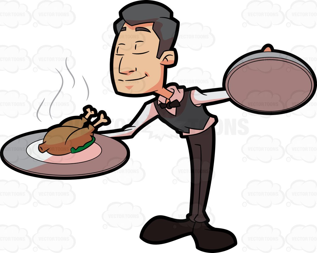 1024x818 Food Clipart Waiter