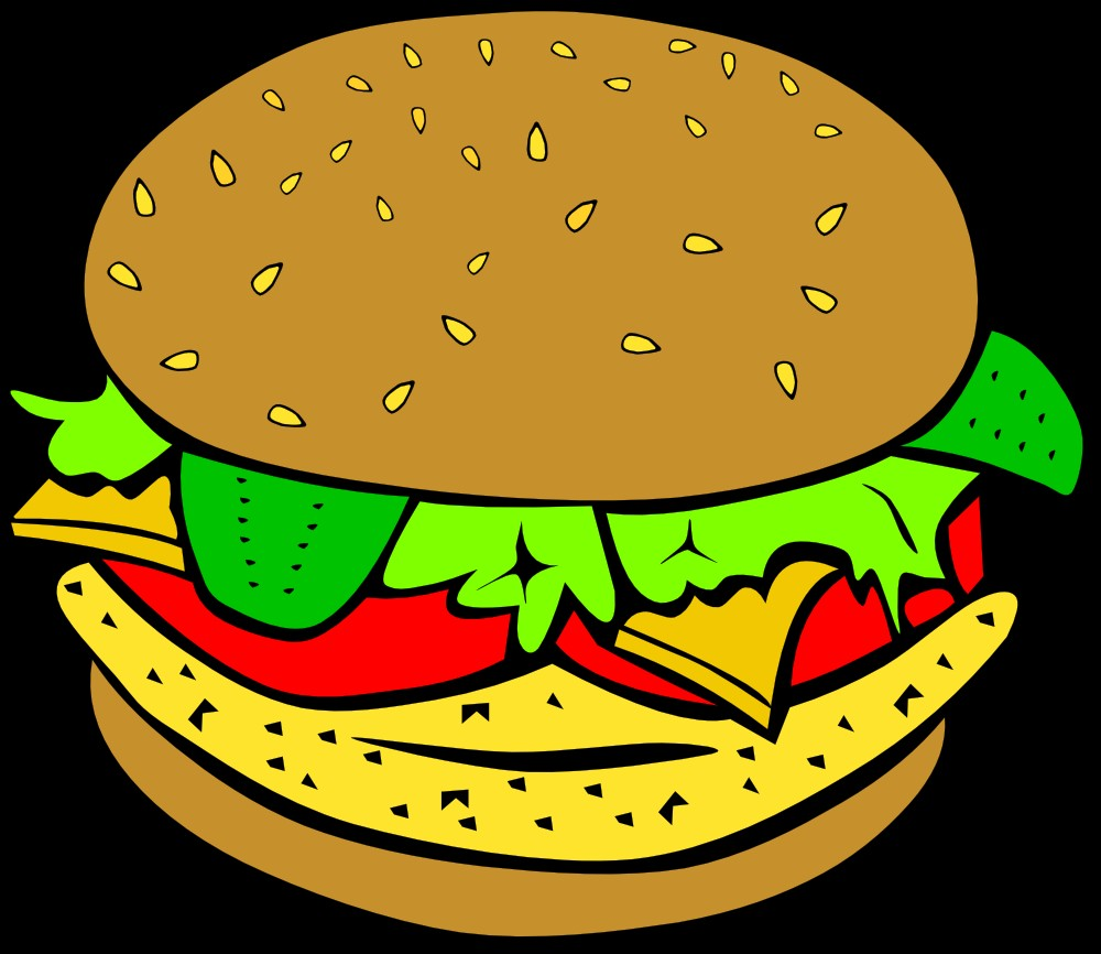 1000x866 Burger And Sandwich Clipart