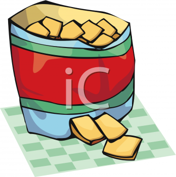 348x350 Bag Of Food Free Clipart