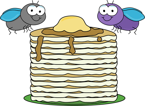 500x365 Flies And Food Clip Art
