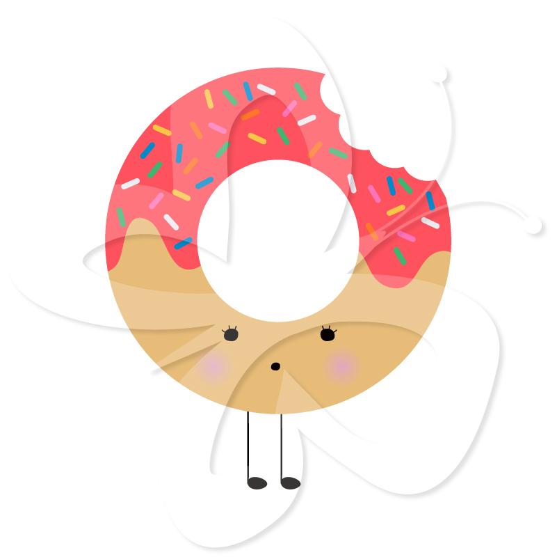 801x800 Donut Clipart