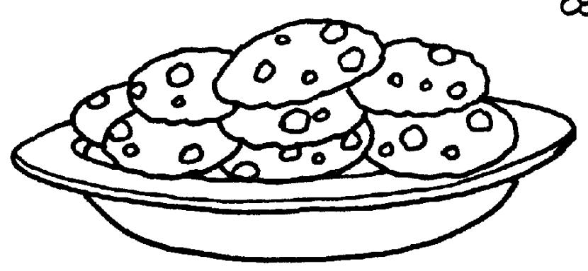 830x383 Cookie Plate Ofokies Clipart