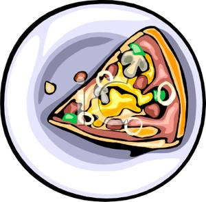 300x293 Art Image A Slice Of Pizza On A Plate