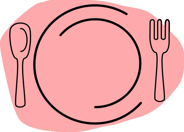 600x431 Pink Plate Clip Art