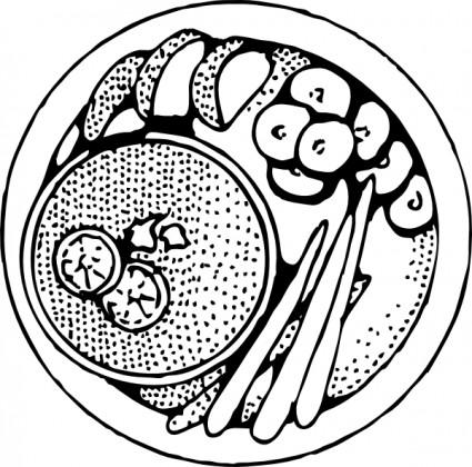 425x420 Plate Of Food Clip Art Vector Clip Art Free Vector Free Download