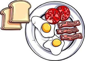 300x216 Plate Of Breakfast Food With Toast Clipart Picture
