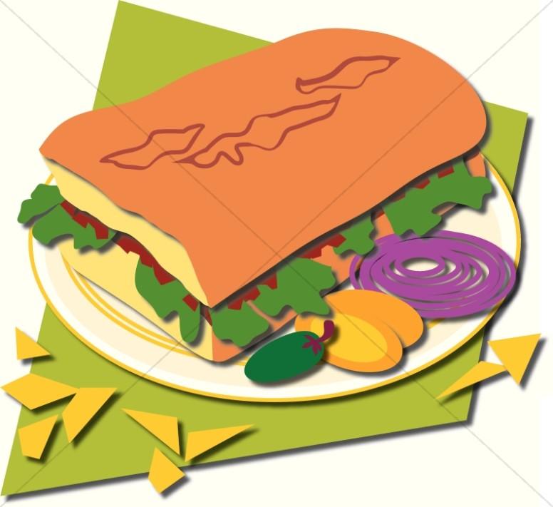 776x711 Sandwich Clipart Plate Food