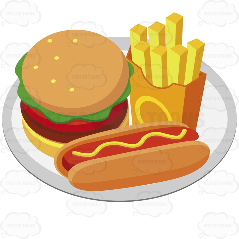 800x800 Plate Full Of Food Clipart