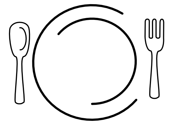 600x431 Clip Art Dinner Table Setting Clipart
