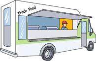 195x124 Food Truck Clipart