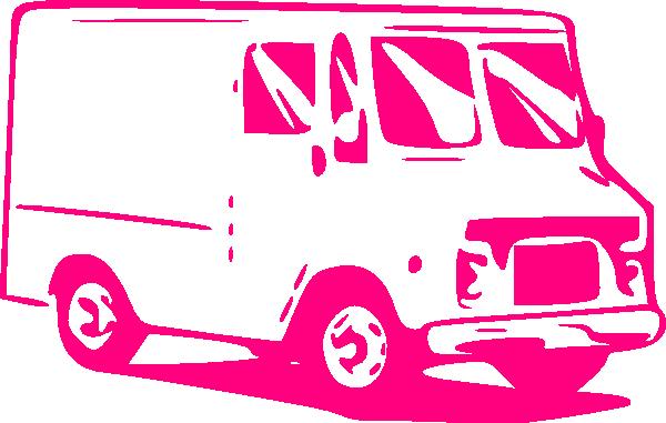 600x381 Pink Truck Clip Art