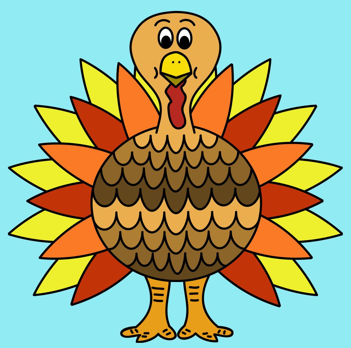 1162x1150 Happy Thanksgiving Turkey Clipart Clipart Kid 8