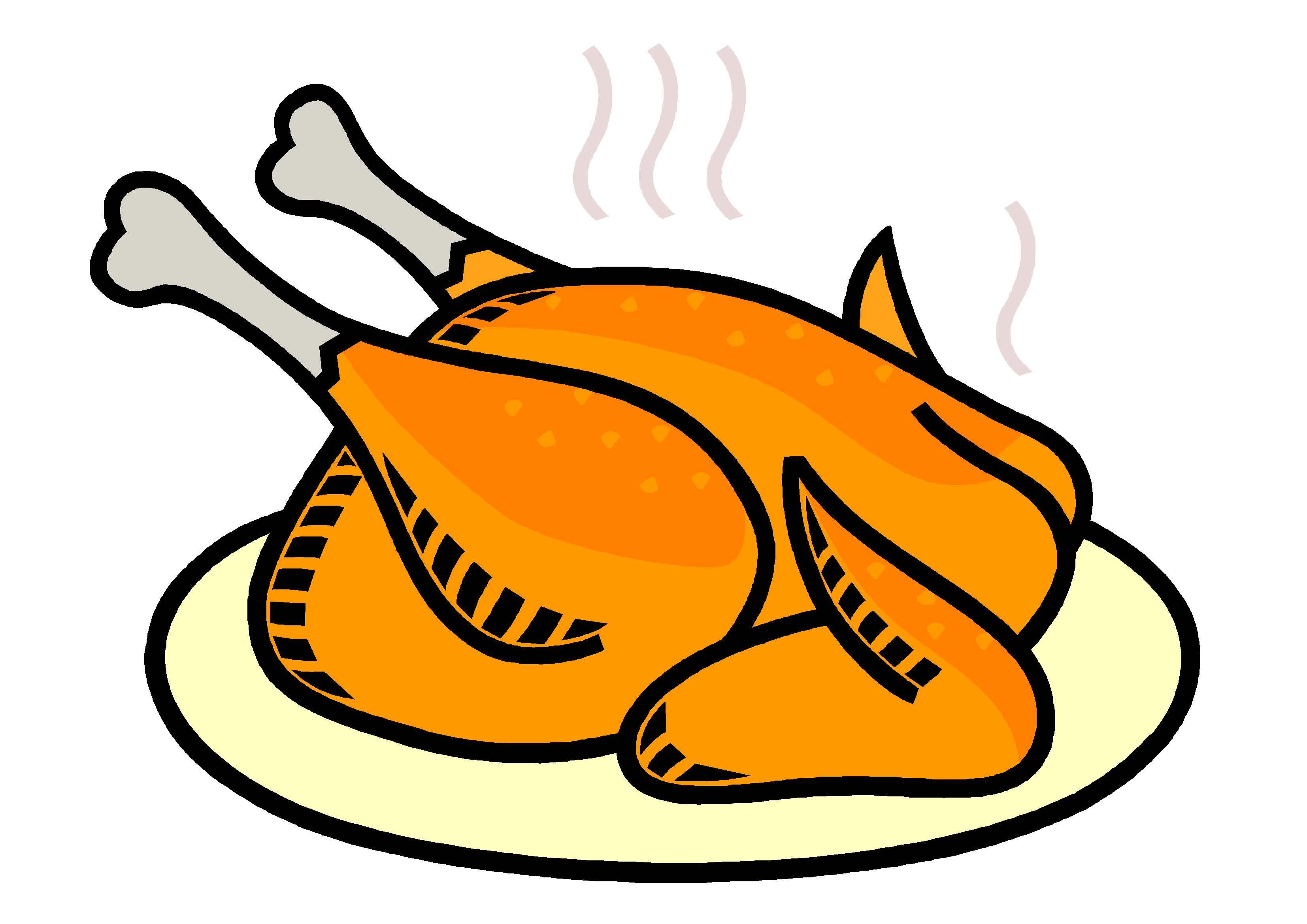 3307x2339 Rotisserie Chicken Clipart
