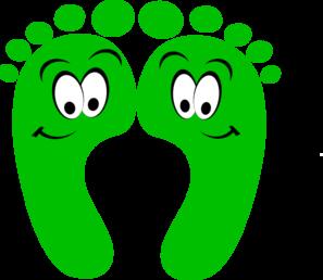 297x258 Foot Green Happy Feet Clip Art