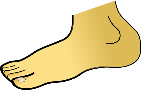 600x382 Foot Clipart