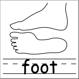 304x304 Clip Art Parts Of The Body Foot Bampw I Abcteach