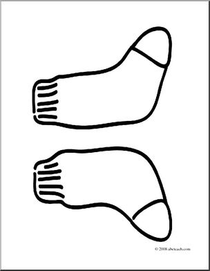 304x392 Clip Art Basic Words Socks (Coloring Page) I Abcteach