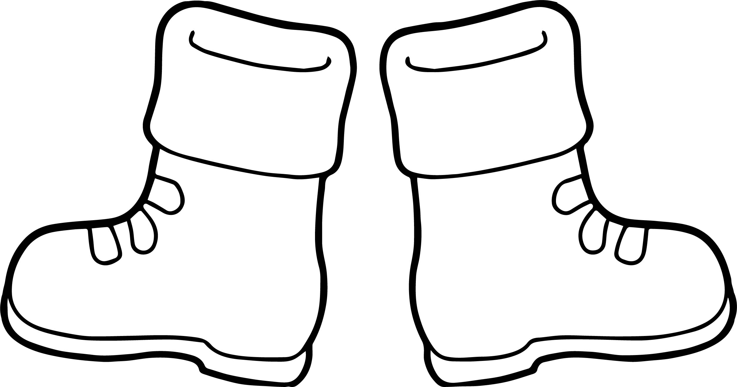 2508x1320 Winter Boots Coloring Page Wecoloringpage