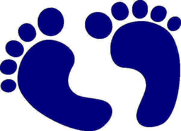 600x435 Baby Feet Navy Clip Art