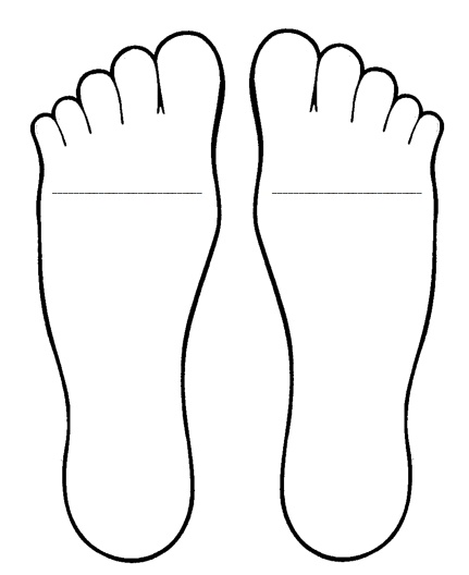 431x528 Big Foot Clipart Pair Feet