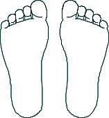 157x170 Footprint Clipart Bottom Foot