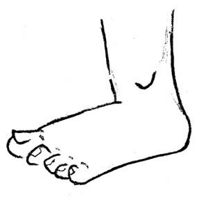 300x300 Cartoon Foot Clipart Kid 3