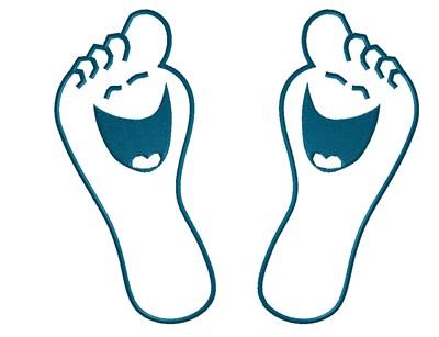 400x307 Design Clipart Foot