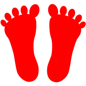 300x300 Red Feet Clipart