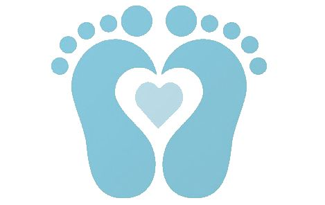 469x296 Baby Foot Print Clipart