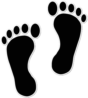 308x342 Walking Footprints Clip Art Baby