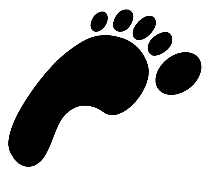 730x616 Footsteps Clipart