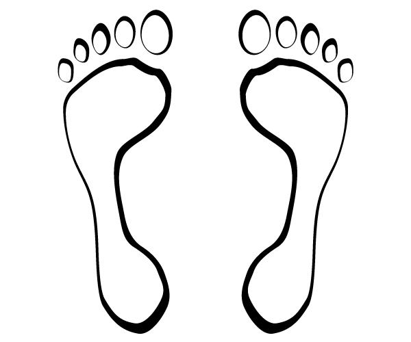 600x500 Footsteps Vector Clip Art 123freevectors