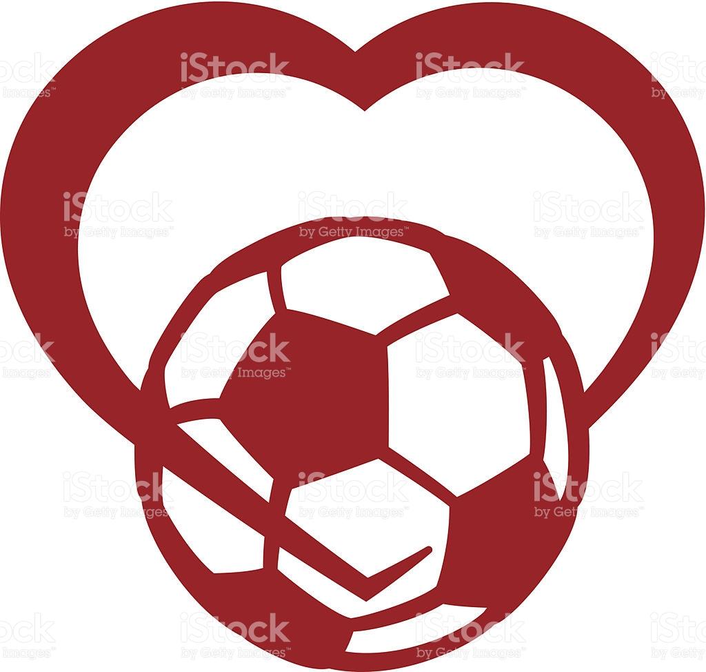 1024x974 Heart Shaped Clipart Football