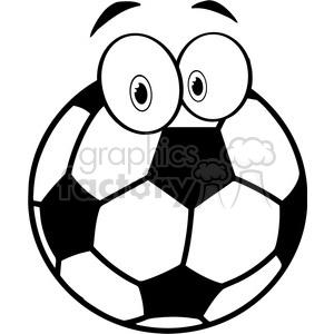 300x300 Royalty Free 102547 Cartoon Clipart Soccer Ball Cartoon Character