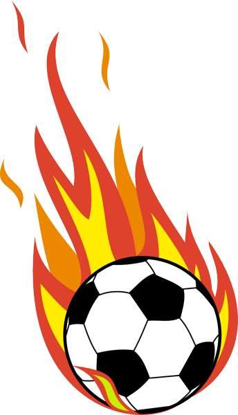 344x600 Flaming Soccer Ball Clip Art Clipart