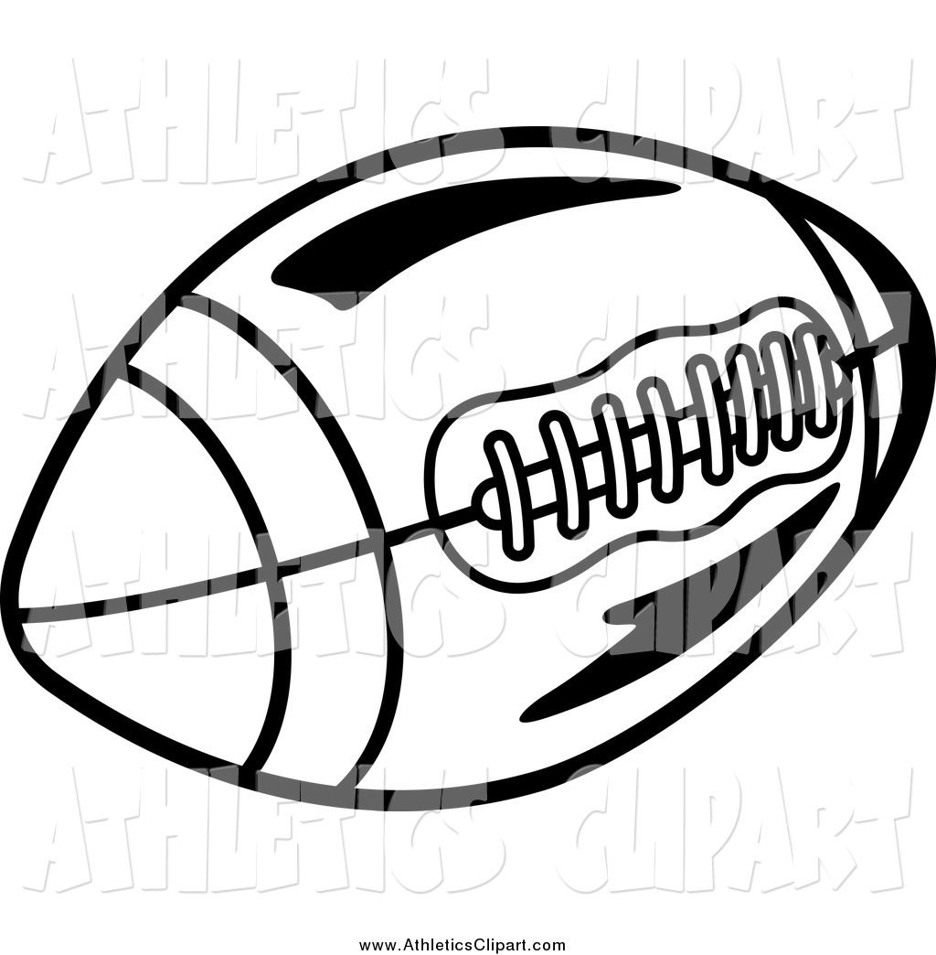 1024x1044 Clip Art Of A Black And White Football By Vector Tradition Sm