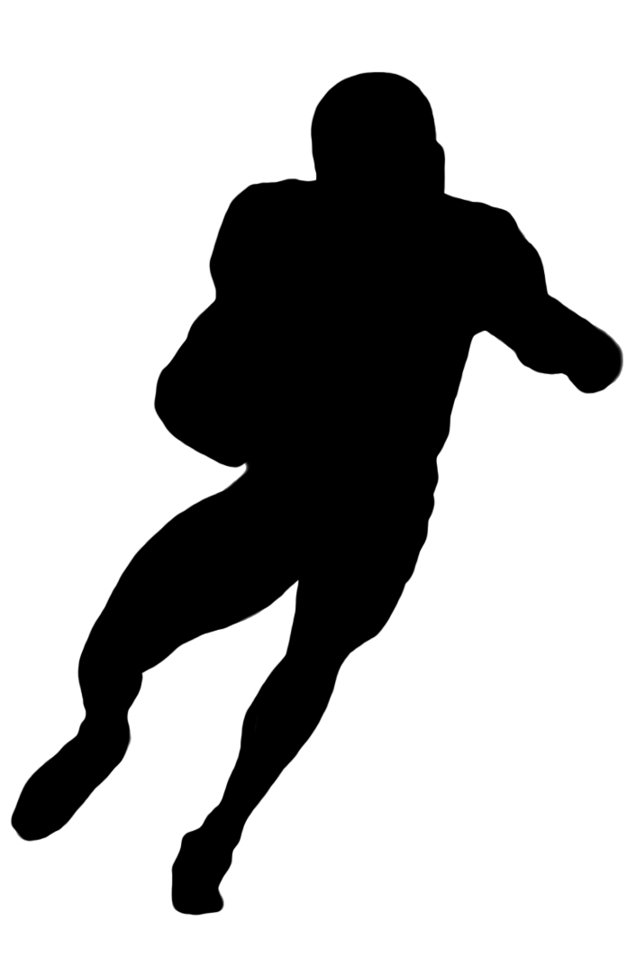 696x1063 Football Player Clipart Black And White Free