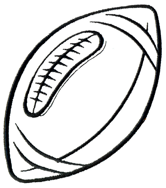 531x600 Free Football Black And White Clipart Image