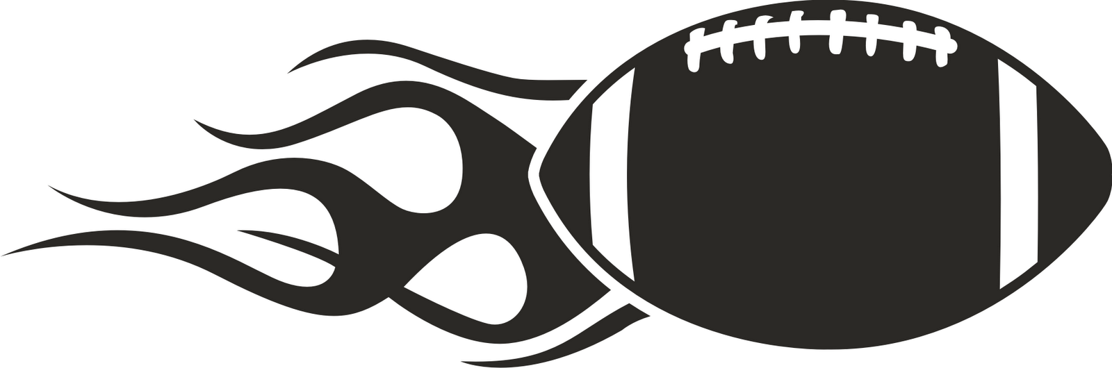 1600x530 Free Football Black And White Clipart Image