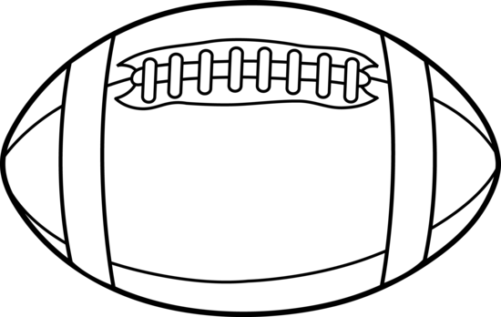 550x348 Free Football Clipart Black And White Image