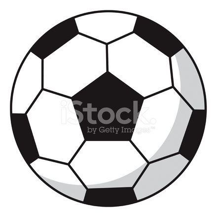 440x440 Simple Soccer Football In Black Amp White Stock Vector