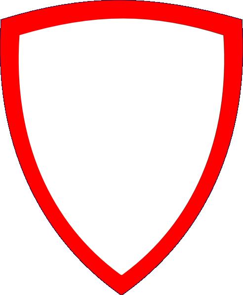 492x598 Shield, Wht W Red Border Clip Art