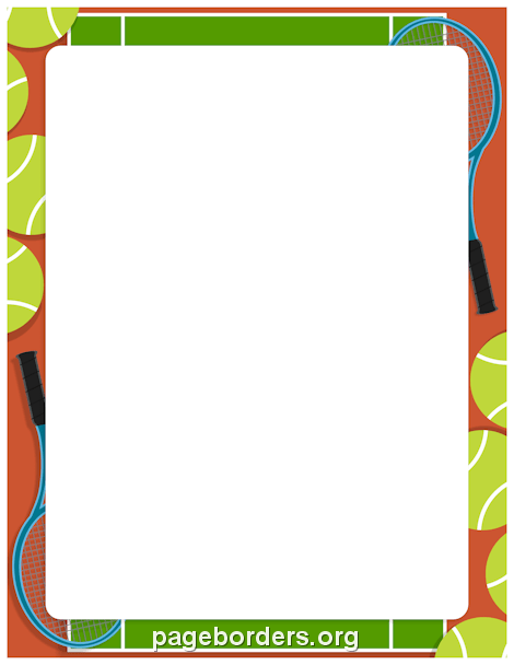 470x608 Tennis Border Clip Art, Page Border, And Vector Graphics