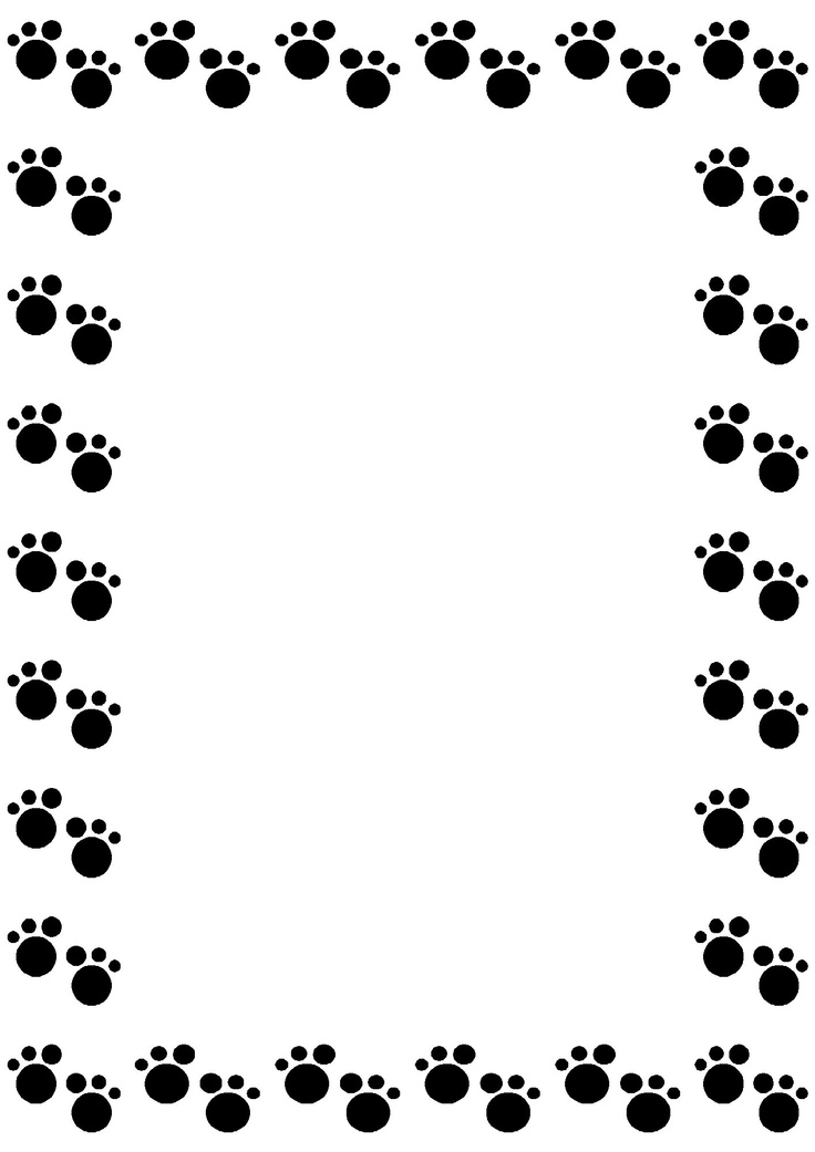736x1041 Dog Paw Gallery For Clip Art Dog Borders Image