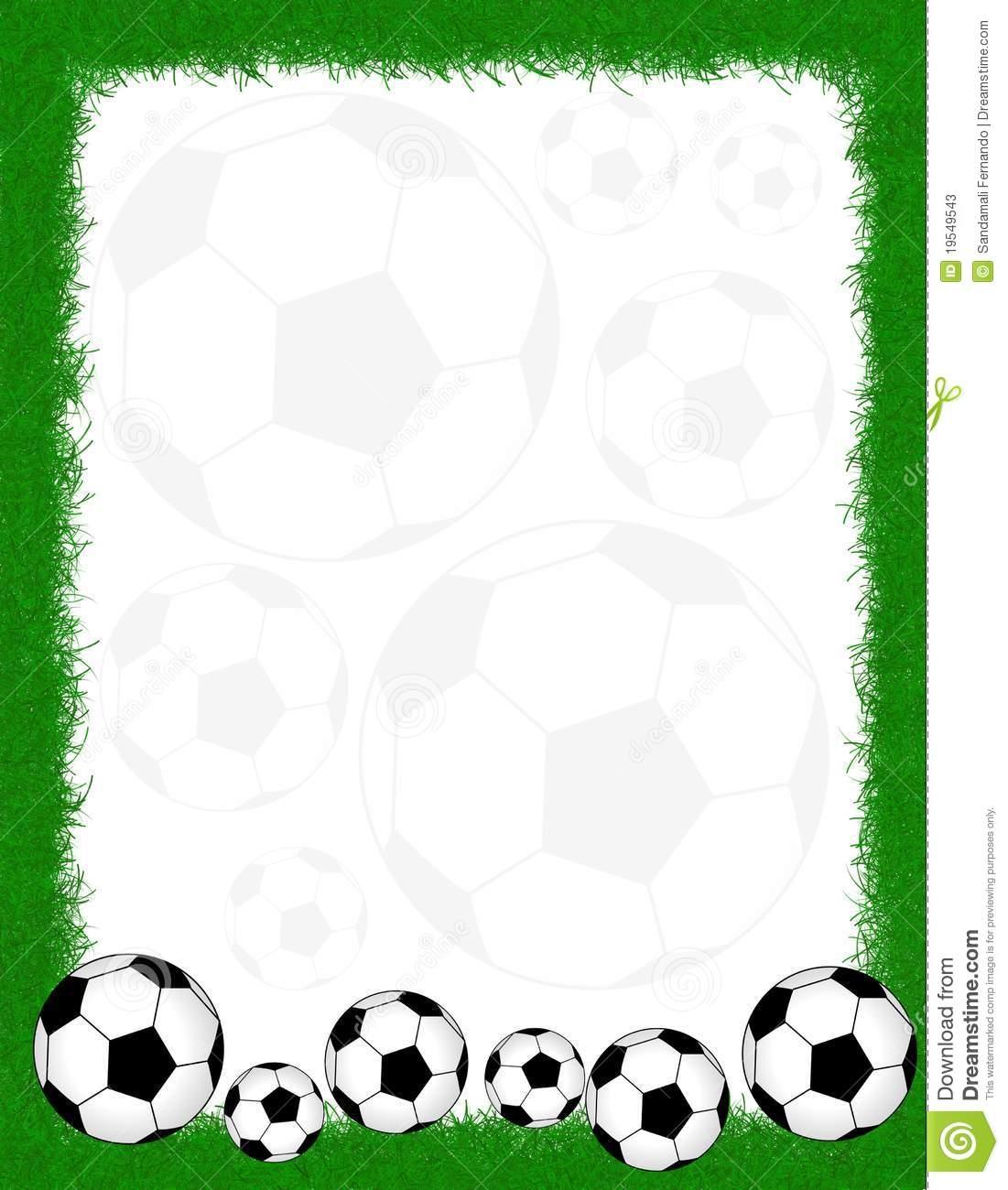 1101x1300 Soccer Border Clip Art