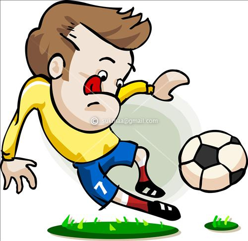 500x486 Football Cartoon Cartoon Football Player