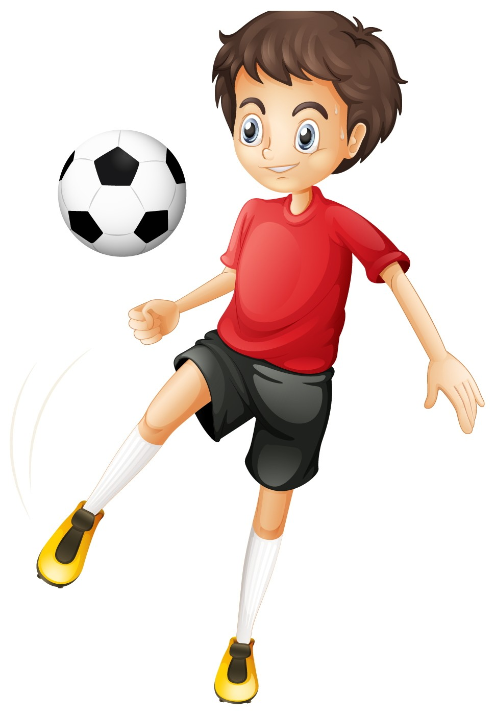 970x1400 Football Cartoon Good Kids Football Player