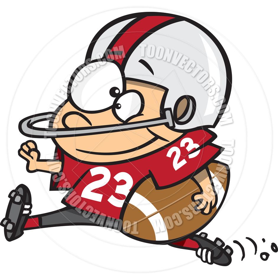 940x940 Cartoon Boy Football Player By Ron Leishman Toon Vectors Eps