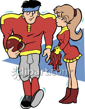 273x350 Cheerleader Flirting With A Football Player